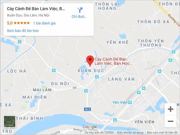 Bản đồ Vườn Cây Xinh