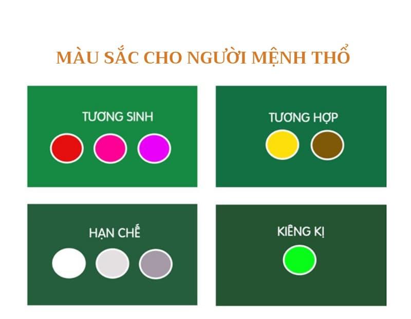 Màu sắc hợp mệnh Thổ | Vườn Cây Xinh